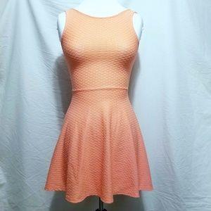 HM Cute Neon Coral Skater Dress, Sz 4